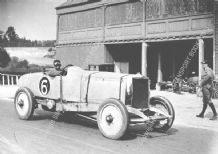 Leyland Thomas Special. Parry Thomas  Brooklands paddock 1925